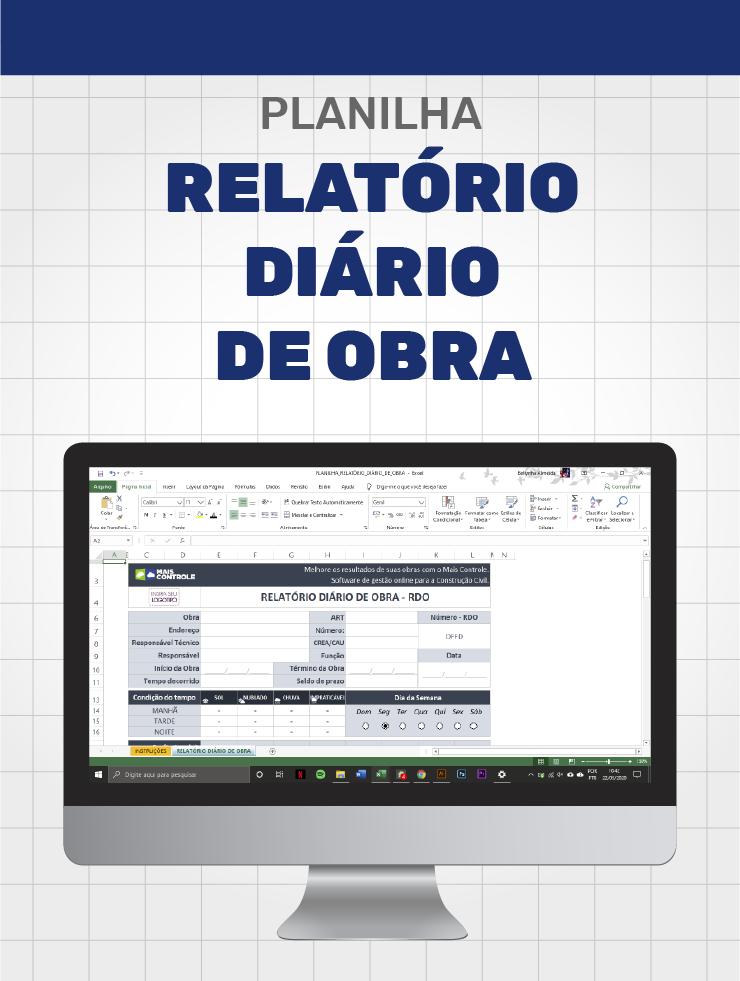 Relatório Digital de Obras - RDO