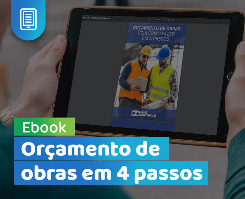 Imagem do ebook Orçamento de obras em 4 passos