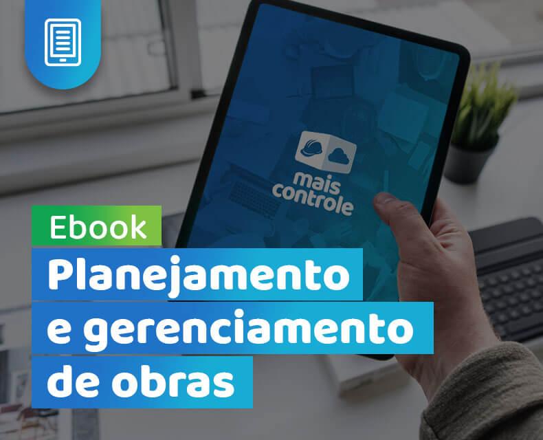 Imagem ebook planejamento e gerenciamento de obras