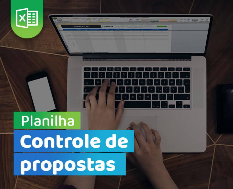 Imagem da planilha de controle de propostas