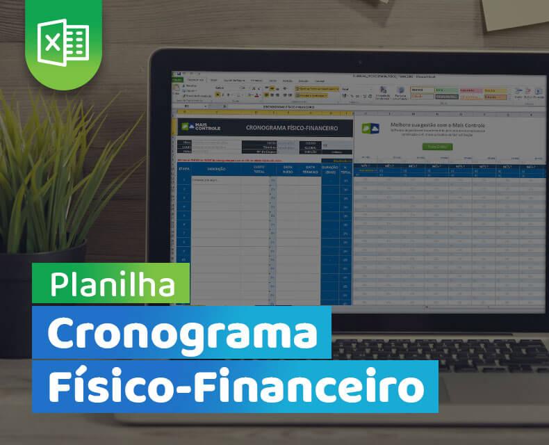 Imagem da planilha de cronograma físico financeiro
